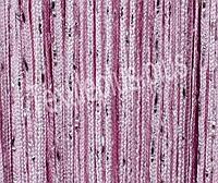 Шторы нити однотонные с люрексом - розовый