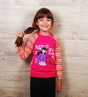Водолазка для девочек на кнопках (разные цвета и рисунки), фото 1