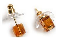 """Пуссеты """"Хрусталик 5"""" с кристаллами Swarovski, покрытые золотом (b632p825)"""