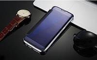 Темно-синий чехол-книжка премиум класса для Samsung Galaxy A7 (2017) / A720