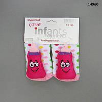"""Носочки """"Детская бутылочка"""" с игрушками-погремушками для девочки. 0-3 мес"""