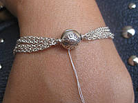 Серебряный браслет Pandora (Пандора) для шармов