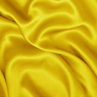 Атлас ткань - цвет желтый