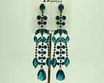 Мода 2014 крупные украшения оптом длинные серьги с цветными камнями стразами и кристаллами