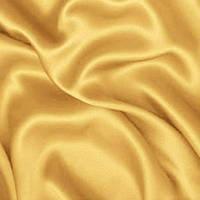 Атлас ткань - цвет светлое золото