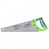 "Ножовка по дереву ""Зубец"", 350 мм, 7-8 TPI, зуб 2D, калёный зуб, 2-х компонентная рукоятка// Сибртех"