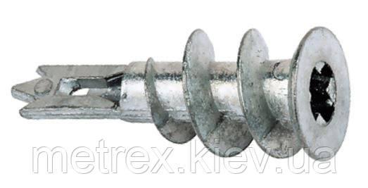Дюбель Driva для гипсокартона 14х28 цинк-алюминий.