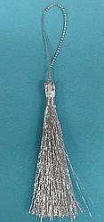 Кисточки - мини  для  декора  G - 6 см  люрекс  серебро  Турция