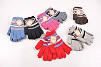 Перчатки детские вязаные из ангоры Пани рукавичка D-2