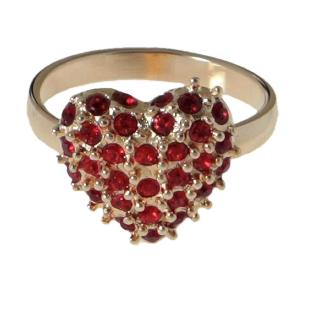 """Кольцо """"Кер"""" с кристаллами Swarovski, покрытое золотом (e767p016)"""