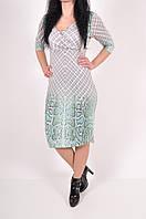 Платье женское (цв.белый/бирюзовый) Misha Brown 32804100 Размер:48