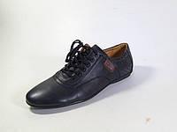 Туфли мужские черного цвета на шнуровке