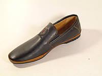 Туфли мужские черного цвета на резинке, фото 1