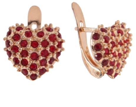"""Серьги """"Кер"""" с кристаллами Swarovski, покрытые золотом (e767p116)"""