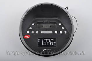 Радиочасы Vitek FM87,5-108 МГц РК дисплей VT-3520BK