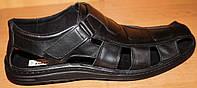 Мужские сандалии кожаные липучка, кожаная летняя обувь мужская от производителя модель АМТ04Л