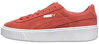 Женские кроссовки Puma Suede Platform Barbados Cherry (Пума) красные
