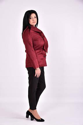 Женский плащ с карманами 0601 цвет бордо размер 42-74, фото 2