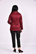 Женский плащ с карманами 0601 цвет бордо размер 42-74, фото 3