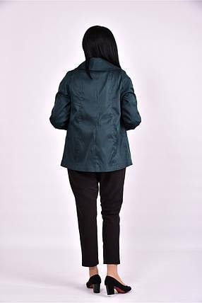 Женский плащ с карманами 0601 цвет темно зеленый размер 42-74, фото 2