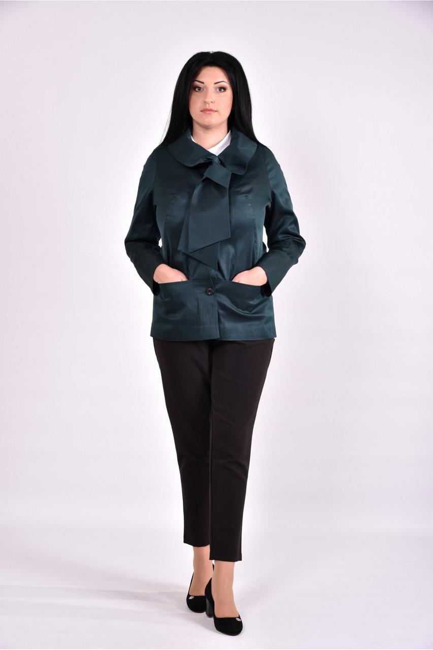 Женский плащ с карманами 0601 цвет темно зеленый размер 42-74