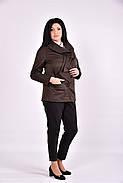 Женский плащ с карманами 0601 цвет коричневый размер 42-74, фото 2