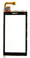 Тачскрин (сенсор) Nokia X6-00 with frame (с рамкой), black (черный)
