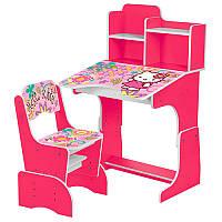 Детская парта со стульчиком Hello Kitty W 2071-48-2 Bambi, малиновый