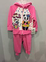 Велюровый костюм с мишкой для девочки, фото 1