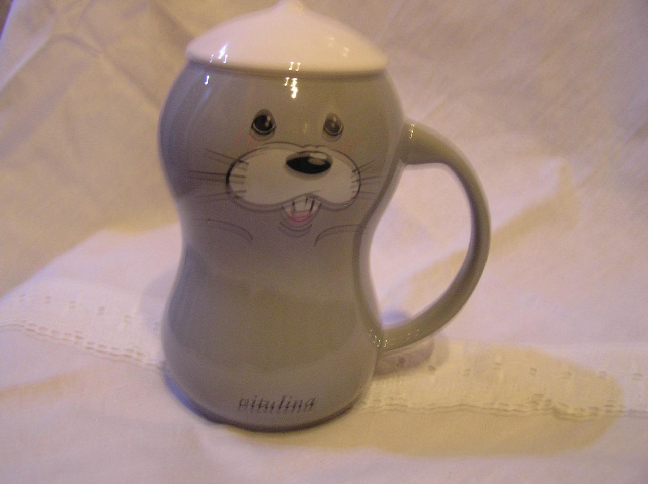 """Чашка с крышкой  """"Морской котик""""  420 мл."""