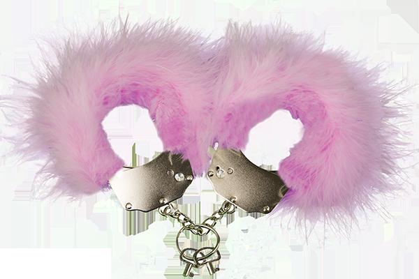 Металеві Наручники з рожевою обробкою Adrien Lastic Handcuffs Pink