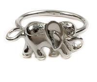 """Кольцо """"Слоник"""" с кристаллами Swarovski, покрытое серебром (a2231000)"""