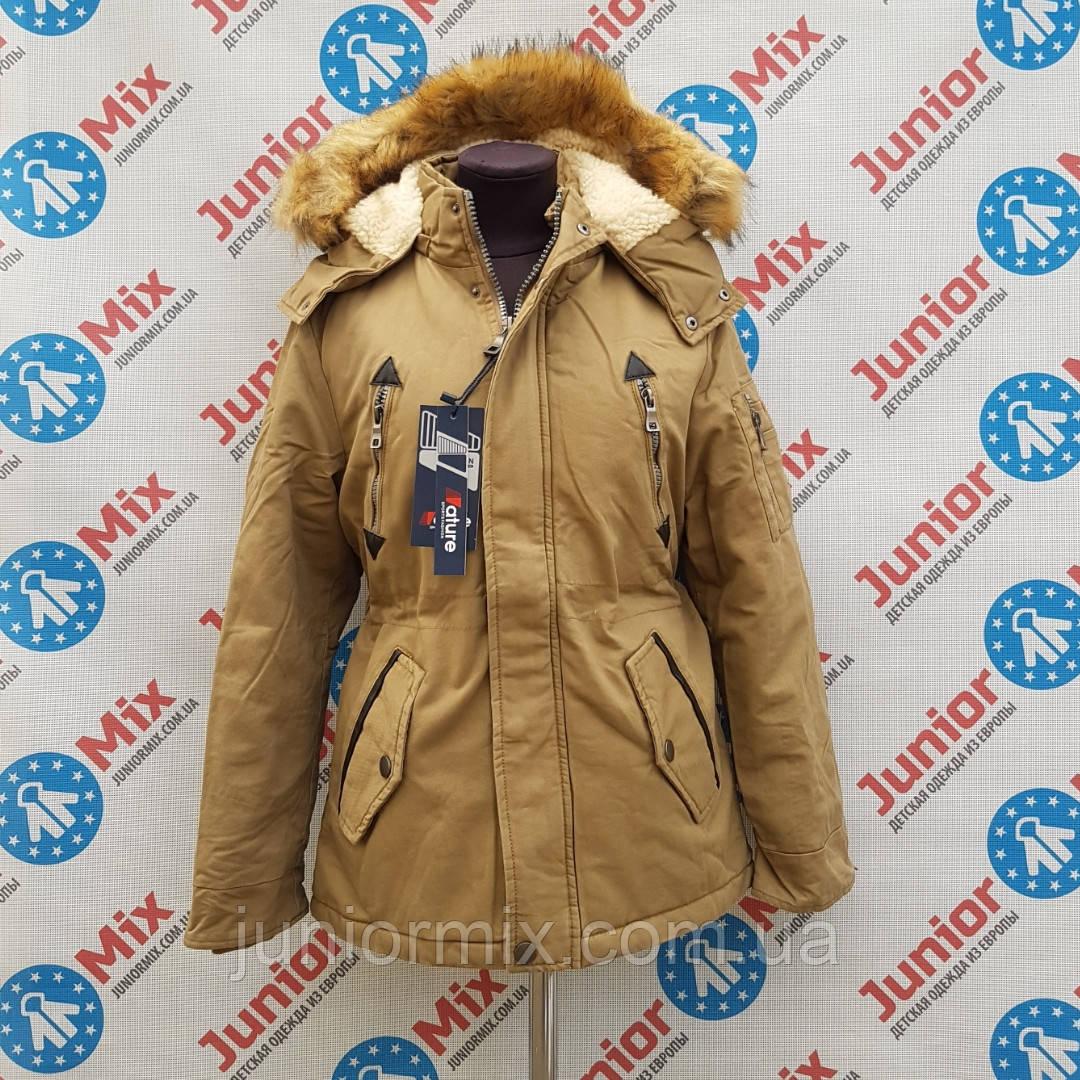 285c180020c Парка зимняя котоновая на мальчика подростковая NATURE с вшитыми карманами