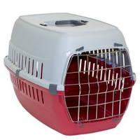 Переноска для собак и котов Moderna РОУД-РАННЕР 1  с металлической дверью, 51Х31Х34 см, красный кирпич.