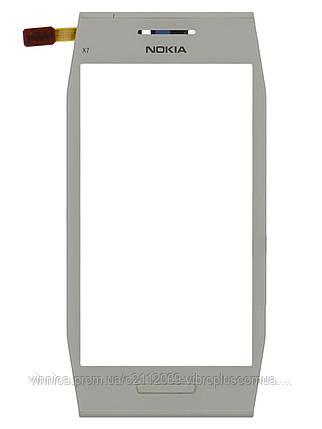 Тачскрин (сенсор) Nokia X7-00 with frame (с рамкой), white (белый), фото 2