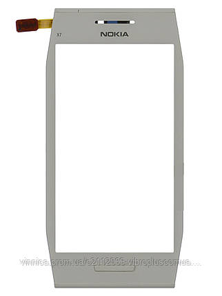 Тачскрин (сенсор) Nokia X7-00 with frame (с рамкой), white (белый), фото 2