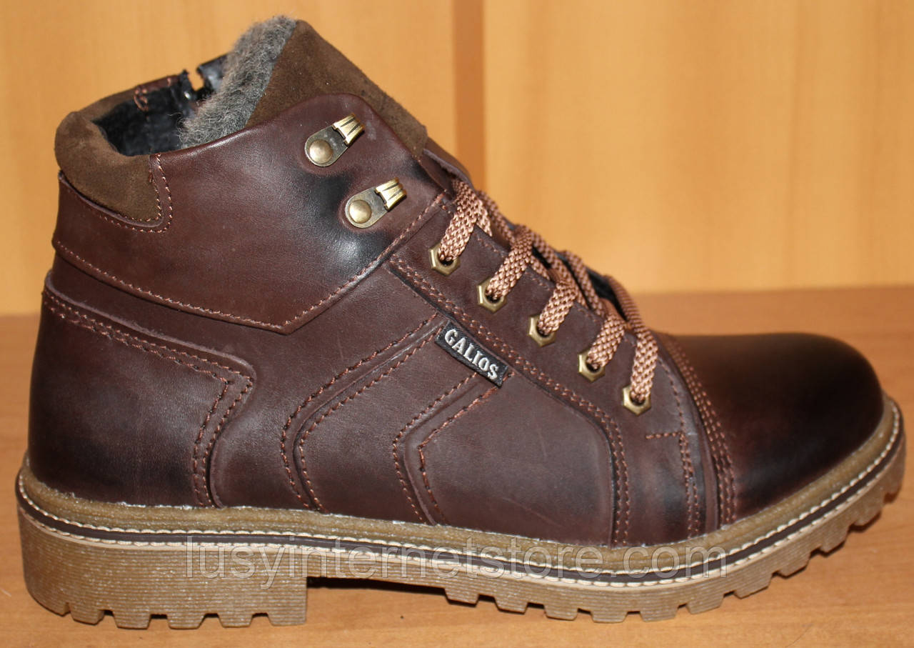bb1a714a7 Мужские ботинки зимние на шнурках, мужская обувь зимняя от производителя  ГК-2 - Lusy