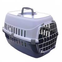 Переноска для собак и котов Moderna РОУД-РАННЕР 1  с металлической дверью, 51Х31Х34 см, кобальт синий.