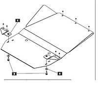 Защита двигателя и АКПП SSANG YONG  Rexton II