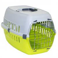 Переноска для собак и котов Moderna РОУД-РАННЕР 1  с металлической дверью, 51Х31Х34 см, ярко-зеленый.