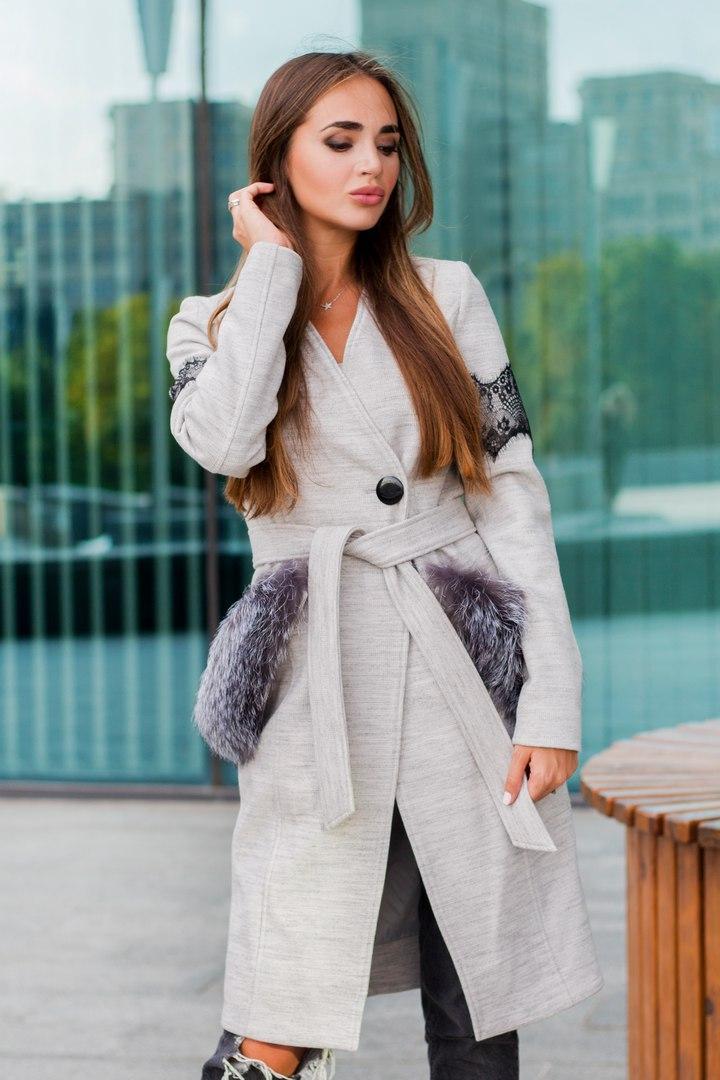 Шикарное дизайнерское пальто