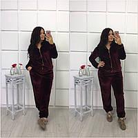 Женский велюровый костюм 48-52 размер