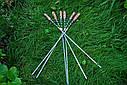 """Набор шампуров """"Королевский питон"""" 47см с ручкой из капа клена, фото 3"""
