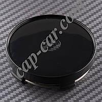 Колпачки заглушки для литых дисков черный 56/60мм под наклейку 56мм