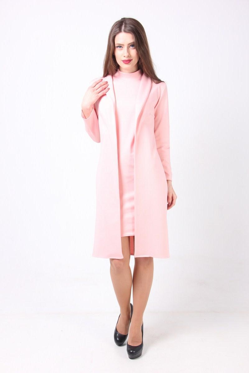 7205c112e966262 Стильный женский костюм платье и кардиган цвета марсала - купить по ...