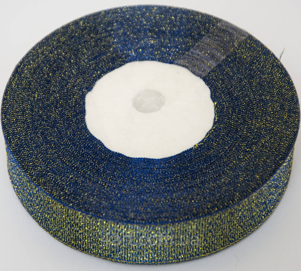 Лента парча 25 ярдов,шириной 2 см синяя