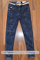 Джинсовые брюки-скинни для девочек. Размеры 116-146 см