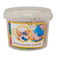 Набор для детской лепки (детского творчества) Тесто-пластилин 15 цветов ТА1066Беларусь