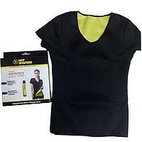 Футболка из неопрена для похудения HOT SHAPERS, женская футболка с эффектом сауны