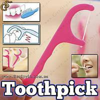 "Флосс-зубочистки - ""Toothpick"" - 25 шт."